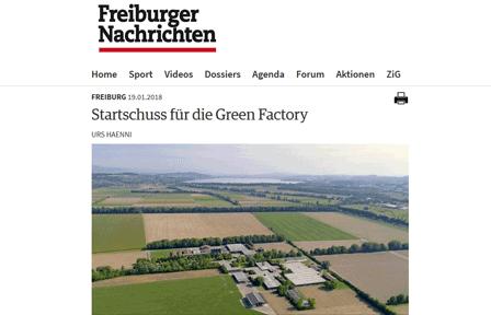 FREIBURGER NACHRICHTEN: Startschuss für die green factory
