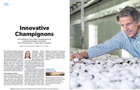 Coopzeitung: innovative champignons